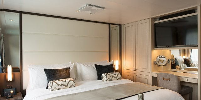 Inside the luxurious bedroom suite.