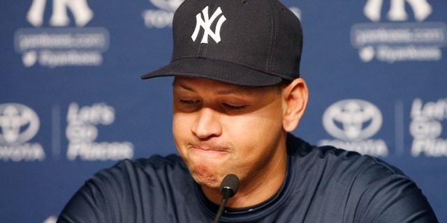 Yankees designated hitter Alex Rodriguez on Sunday announces his impending retirement.