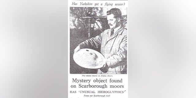 How the Yorkshire Post newspaper reported the purported 'miniature UFO' discovery (Dr. David Clarke/Sheffield Hallam University)