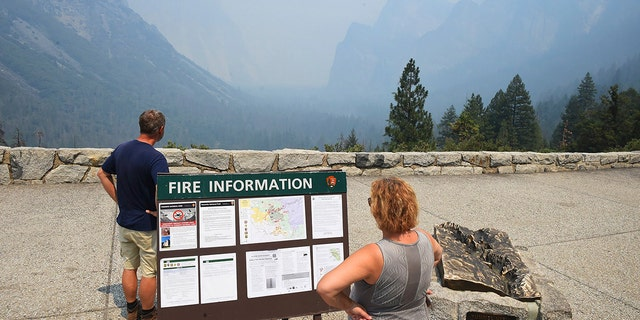 Yosemite National Park had already issued an alert to visitors of poor air quality and poor visibility due to smoke stemming from the Ferguson fire.