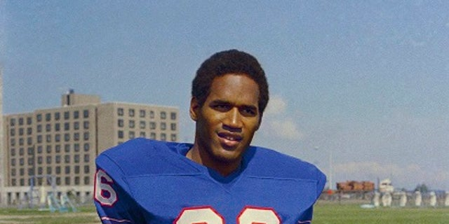 O.J. Simpson was the star running back for the Buffalo Bills.