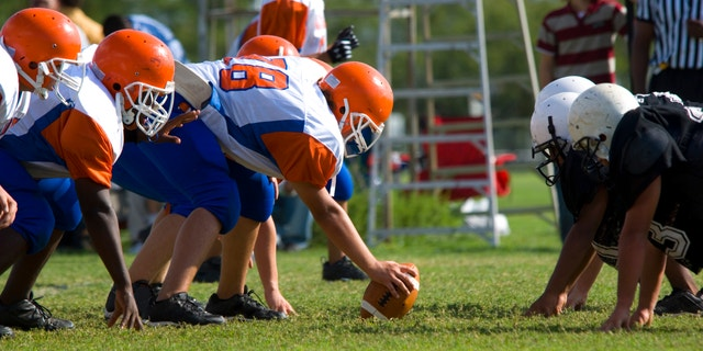 American Football played by young men