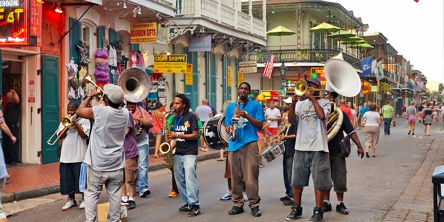 Does it get any hotter than this? Live impromptu jazz band on the hot summer streets of August in New Orleans.