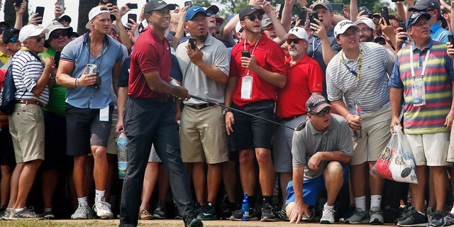 Tiger Woods shot a final round 64 to finish two shots behind Koepka.