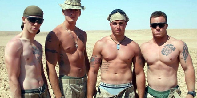 Matt Walker found a camera with photos of a Marine with the last name Zellman (l.)