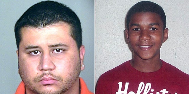 George Zimmerman, left, confronted Trayvon Martin late last month that lead to a shooting that sparked a heated race debate.