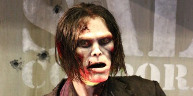 The realistic animatronic figure was developed by Sally Corp.
