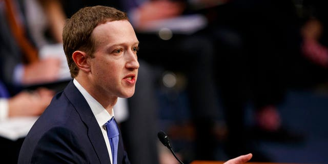 Facebook CEO Mark Zuckerberg testifies before U.S. lawmakers in April.