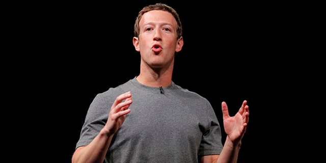 Facebook CEO Mark Zuckerberg speaks during the Samsung Galaxy Unpacked 2016 event on the eve of this week's Mobile World Congress wireless show, in Barcelona, Spain. On Thursday, Sept. 21, 2017