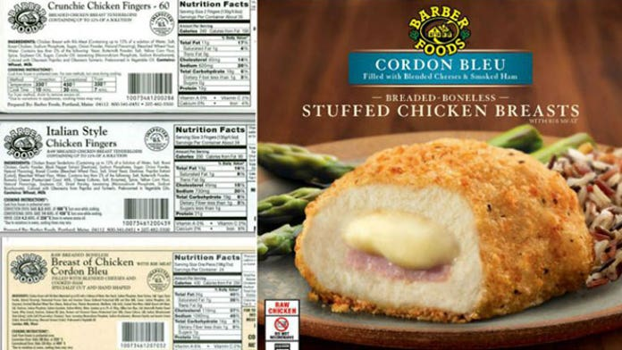 Barber Foods Recalls Over 17 Million Pounds Of Frozen Chicken
