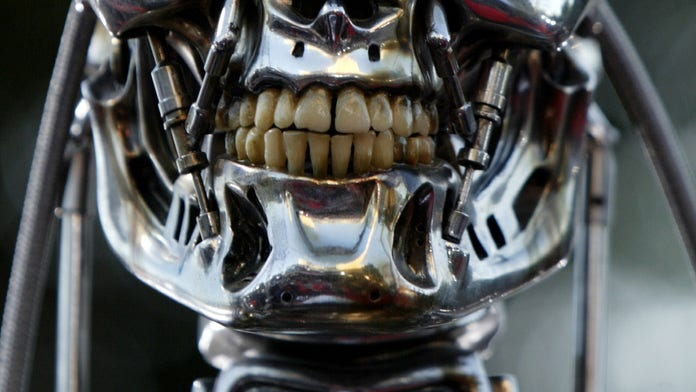 Fears of Terminator robot uprising sparked after scientists create creepy 'lifelike' machines that can eat,...