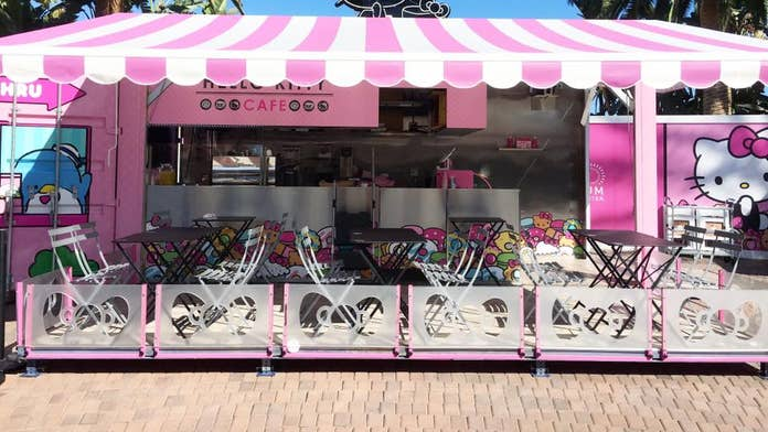 America's first Hello Kitty café overrun by excited fans