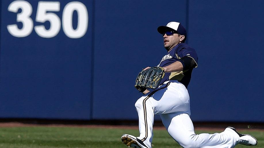 Padres Brewers Spring Baseball