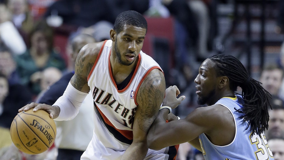 22a13a28-Nuggets Trail Blazers Basketball