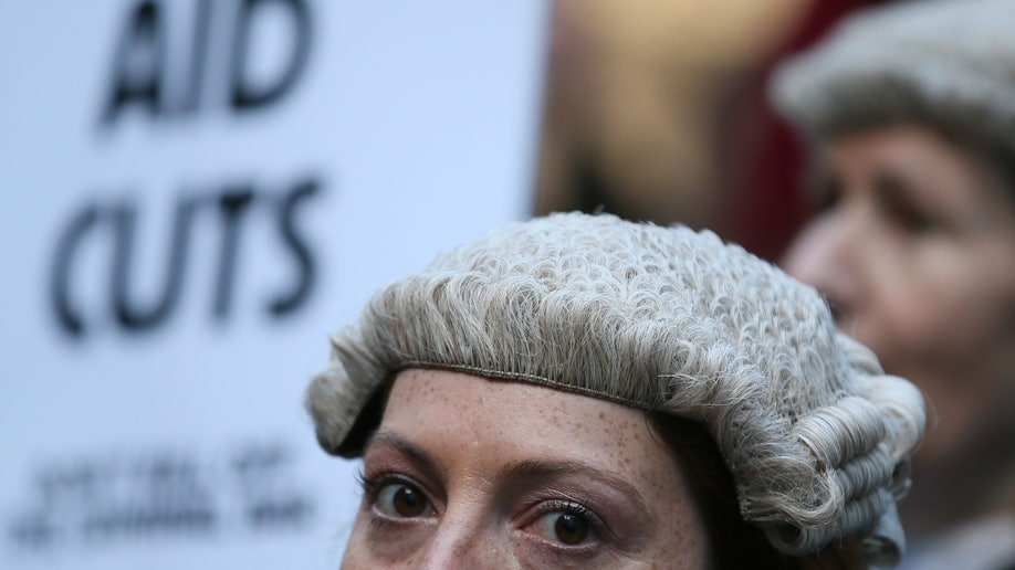 Britain Lawyers Protest