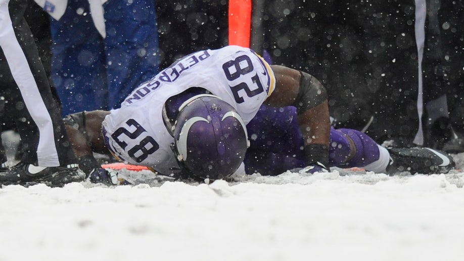 Vikings Ravens Peterson Injured Football