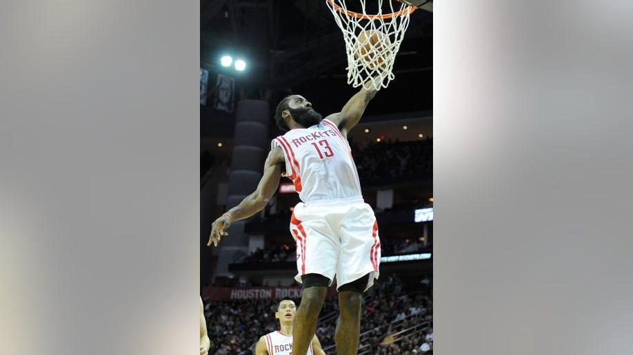 Rockets Hot Harden Basketball