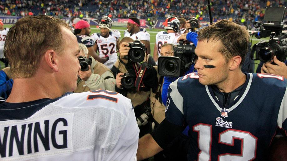 Pick 6 Brady vs Manning Football