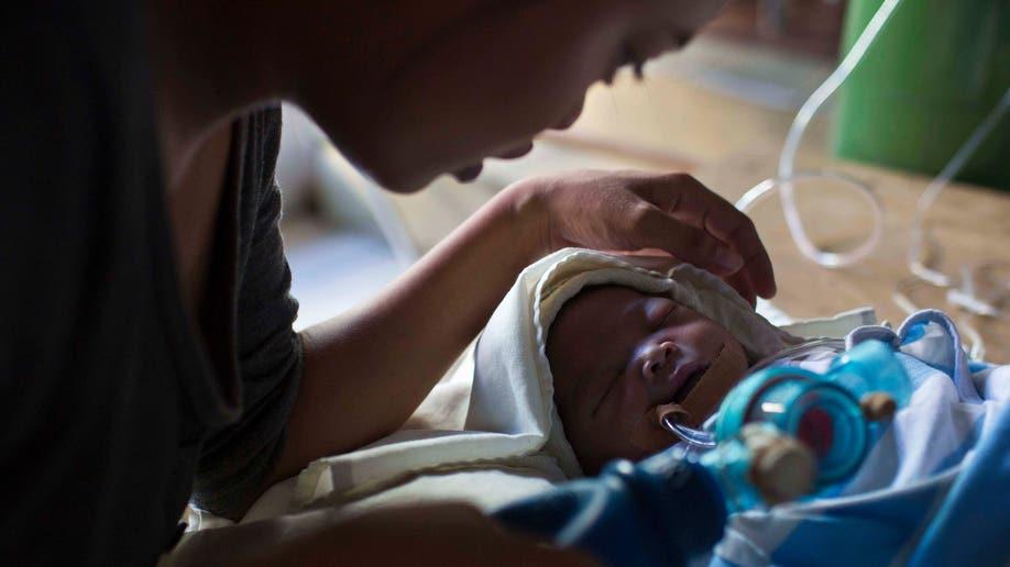 APTOPIX Philippines Storm Babies