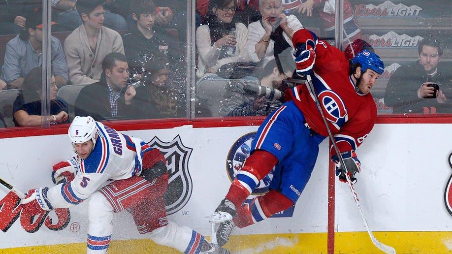 APTOPIX Rangers Canadiens Hockey