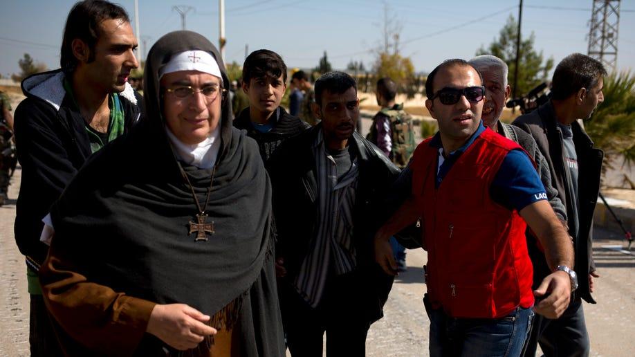 Mideast Syria Controversial Nun
