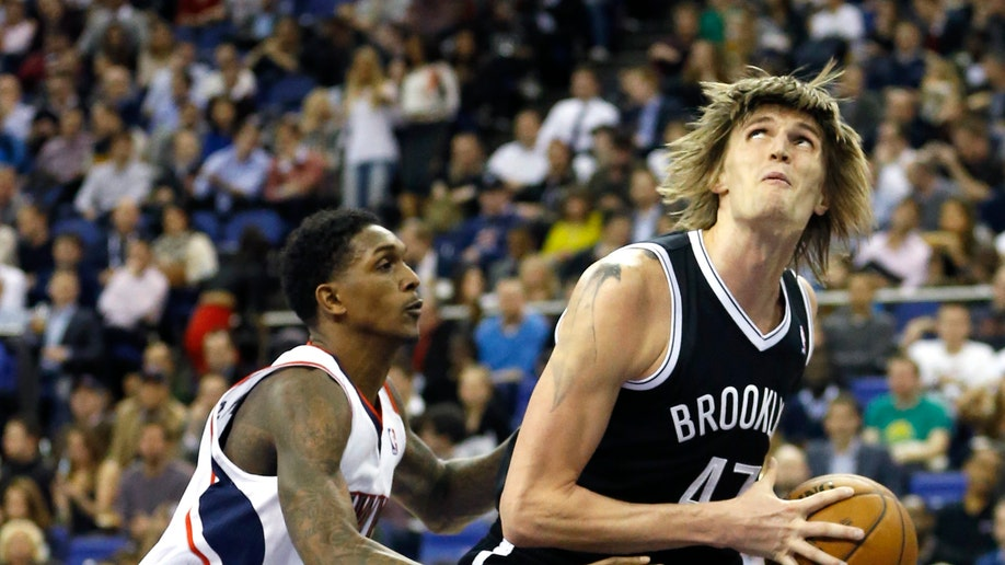 26937488-Britain Basketball Atlanta Hawks Brooklyn Nets