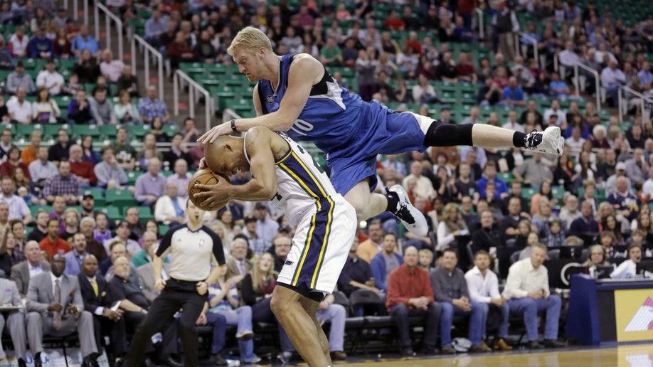 APTOPIX Timberwolves Jazz Basketball
