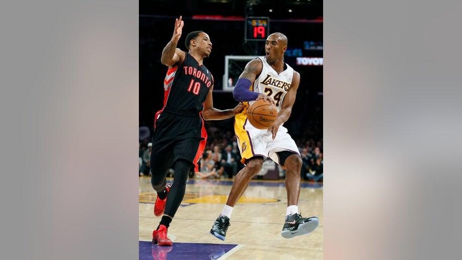 APTOPIX Raptors Lakers Basketball