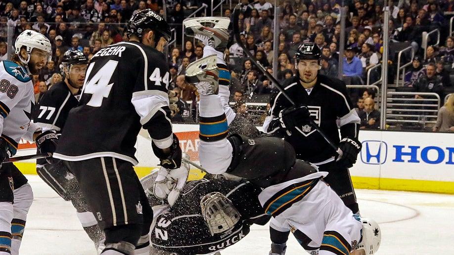 APTOPIX Sharks Kings Hockey