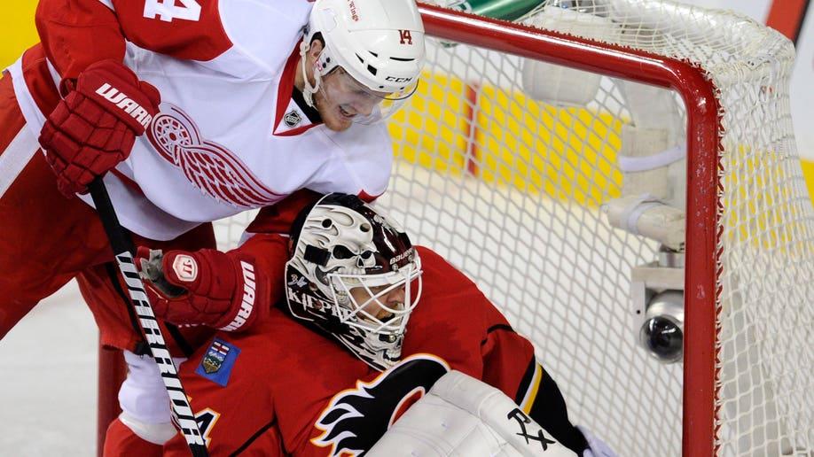 Red Wings Flames Hockey