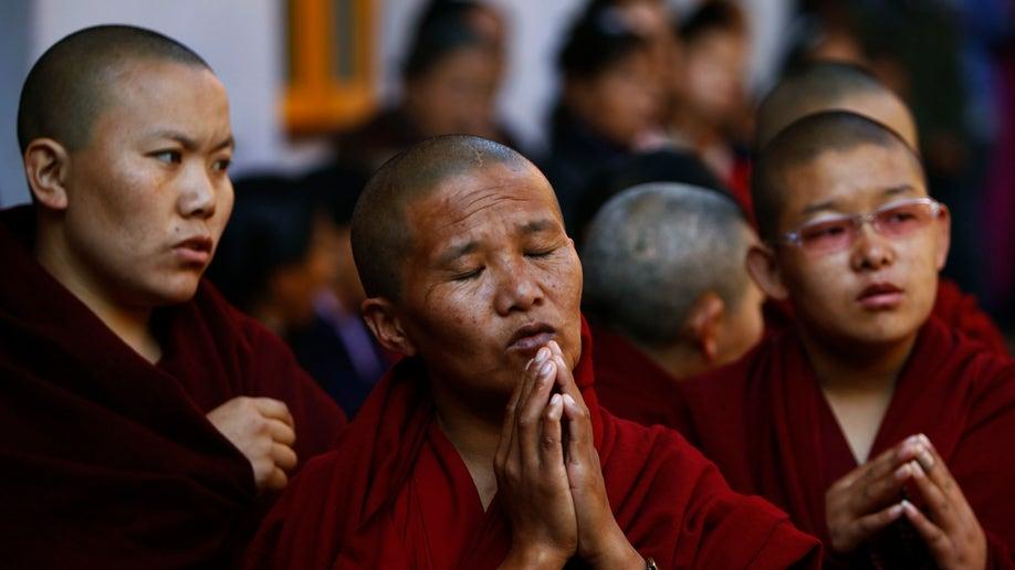 APTOPIX Nepal Tibetan Protester