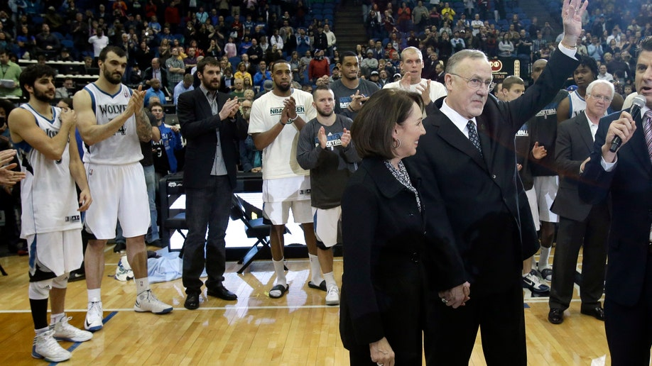 APTOPIX Pistons Timberwolves Adelman 1000 Basketball
