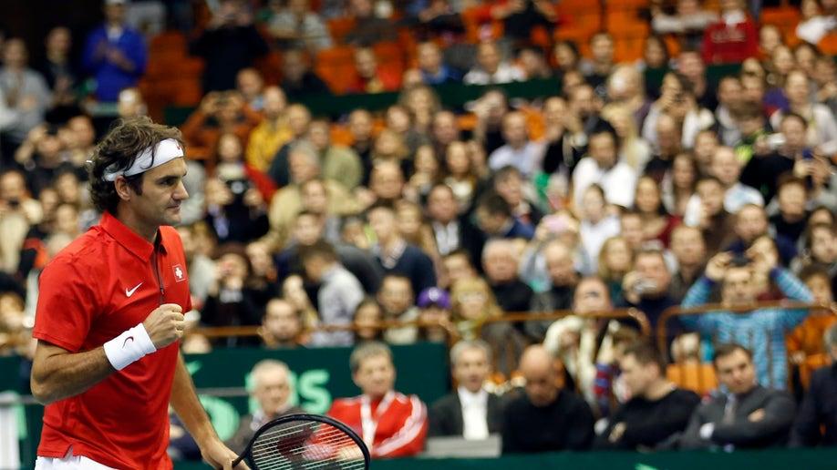Serbia Switzerland Davis Cup Tennis