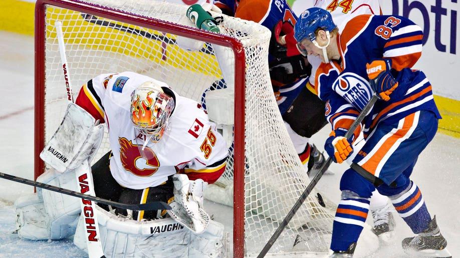 Flames Oilers Hockey
