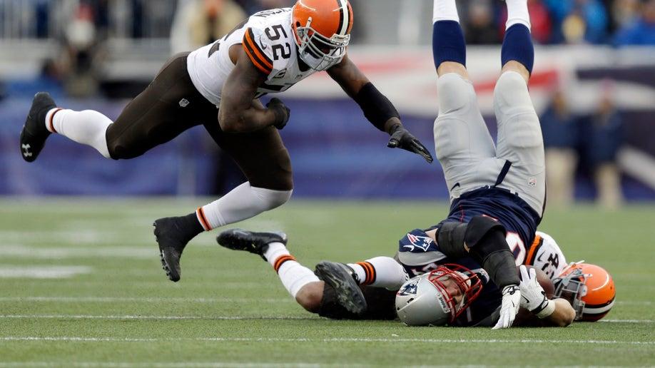 APTOPIX Browns Patriots Football