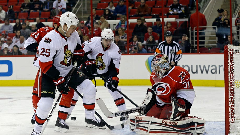 Senators Hurricanes Hockey