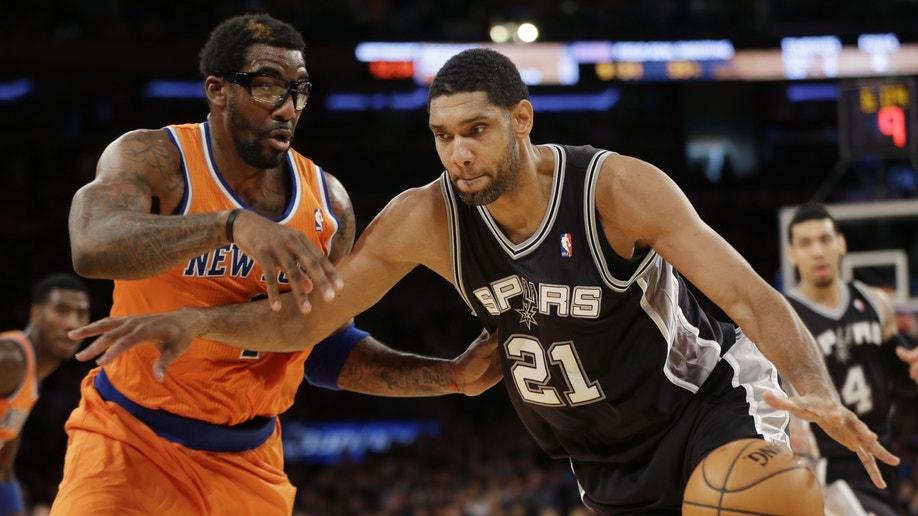 Spurs Knicks Basketball