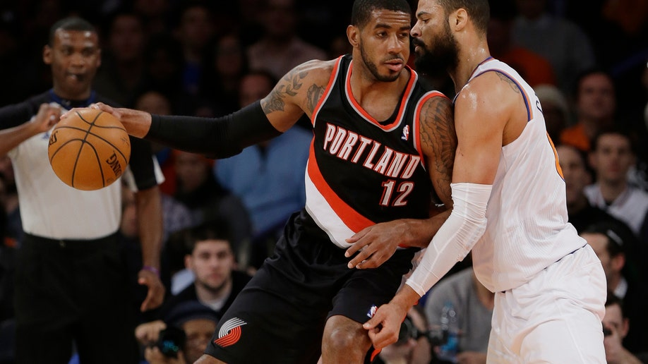 Trail Blazers Knicks Basketball