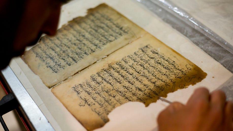 Mideast Jerusalem Mosque Manuscripts