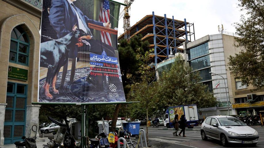 Mideast Iran Poster Pressures