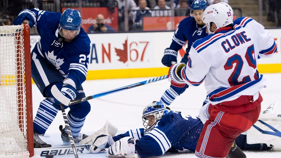 Rangers Maple Leafs Hockey