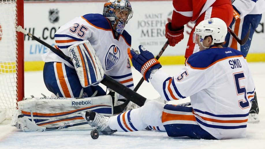 Oilers Red Wings Hockey
