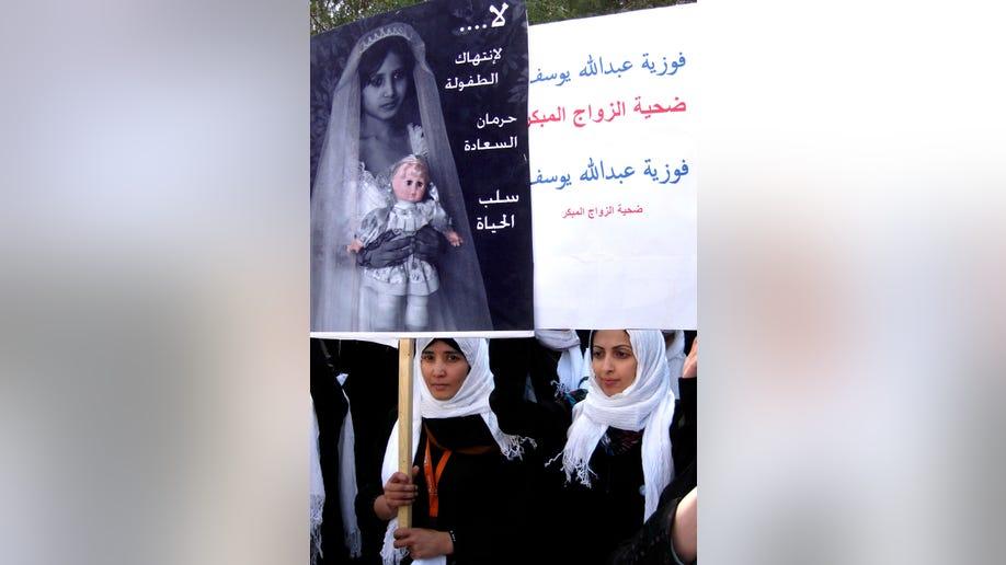 Mideast Yemen Child Marriage