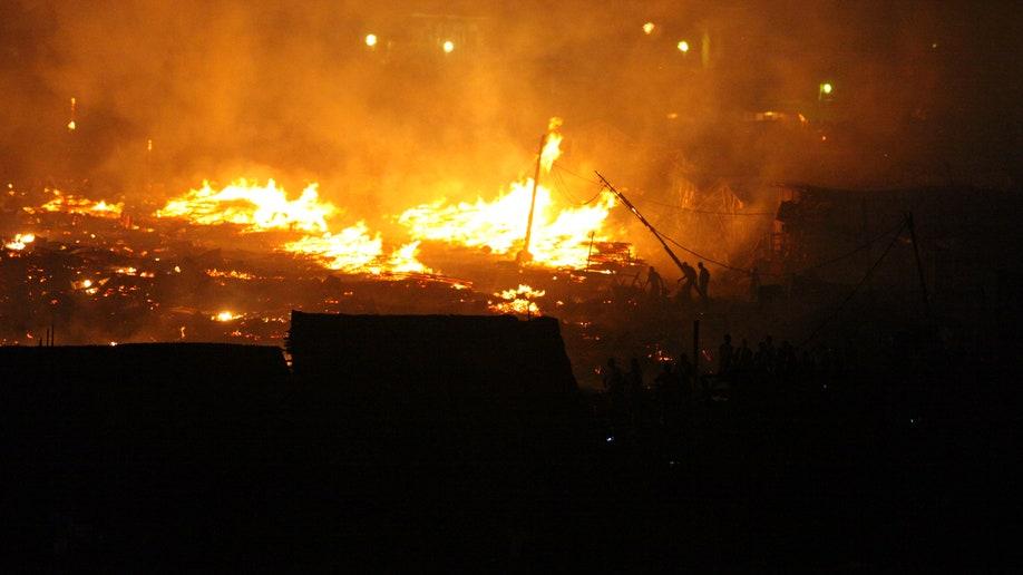 Nigeria Slum Fire