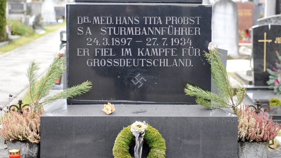 Swastika on Austrian gravestone defies ban on Nazi symbols