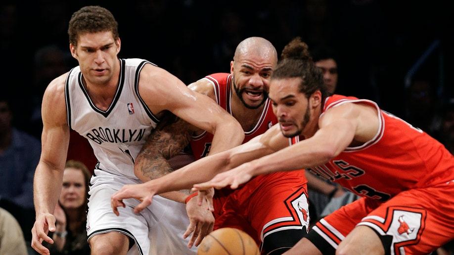 APTOPIX Bulls Nets Basketball