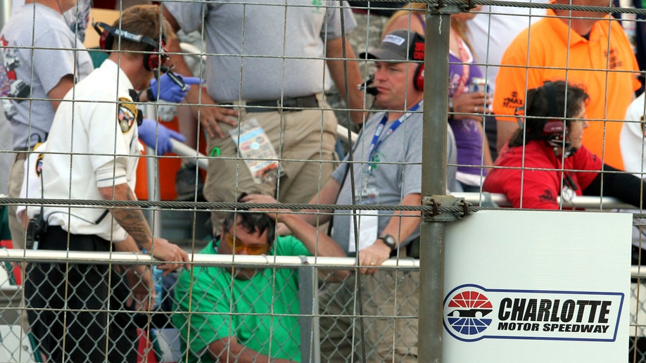 NASCAR Charlotte Snapped Cable Auto Racing