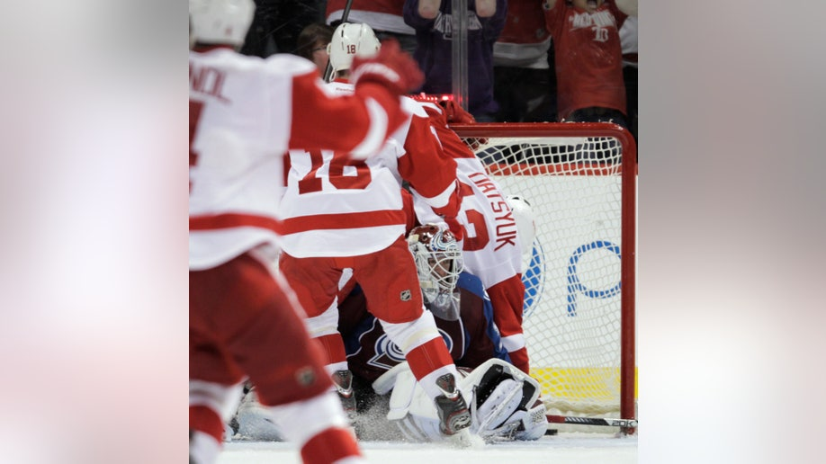 Red Wings Avalanche Hockey