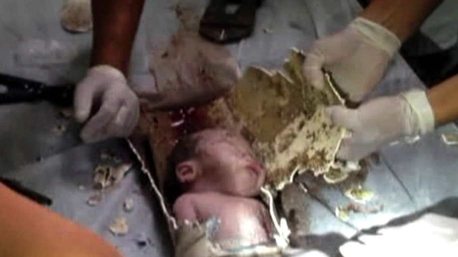China Infant In Sewer