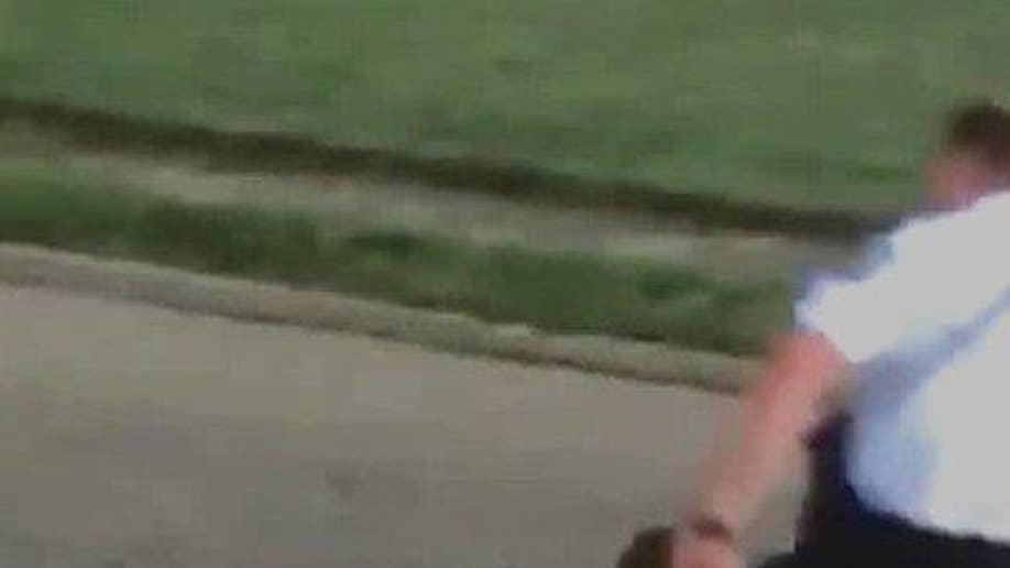 Police Kick Video